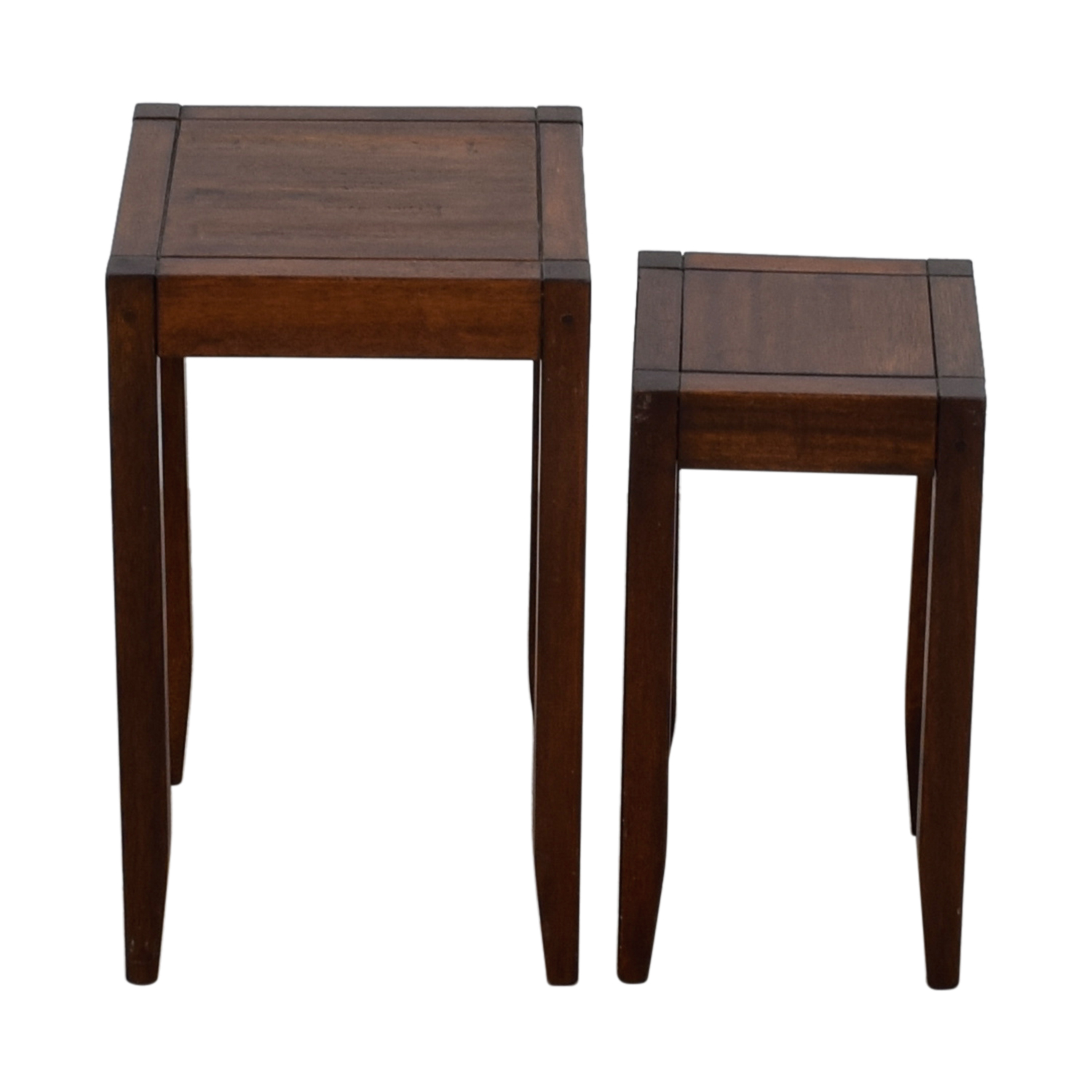 shop Pottery Barn Block Wooden Nesting Tables Pottery Barn Accent Tables