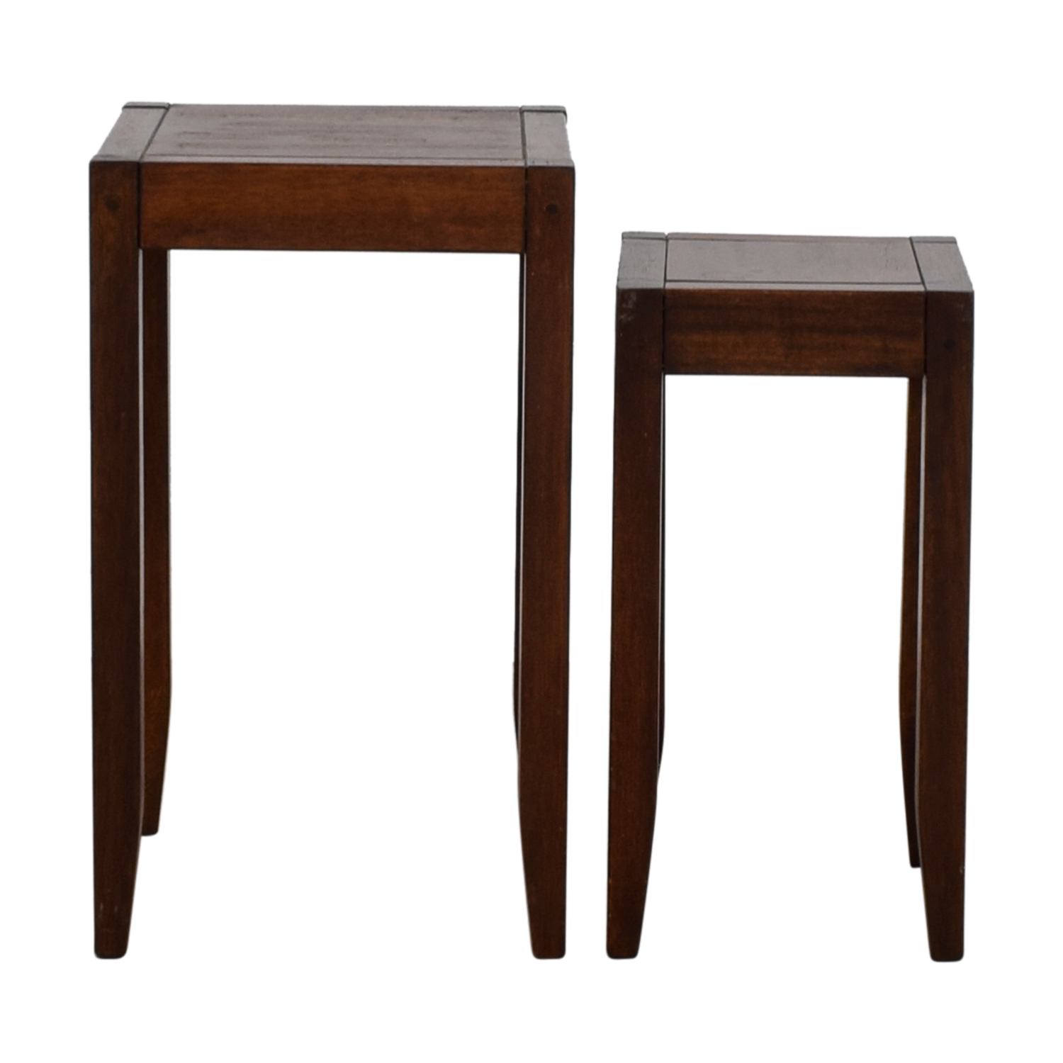 Wes Nesting Tables Pottery Barn: Pottery Barn Pottery Barn Block Wooden Nesting