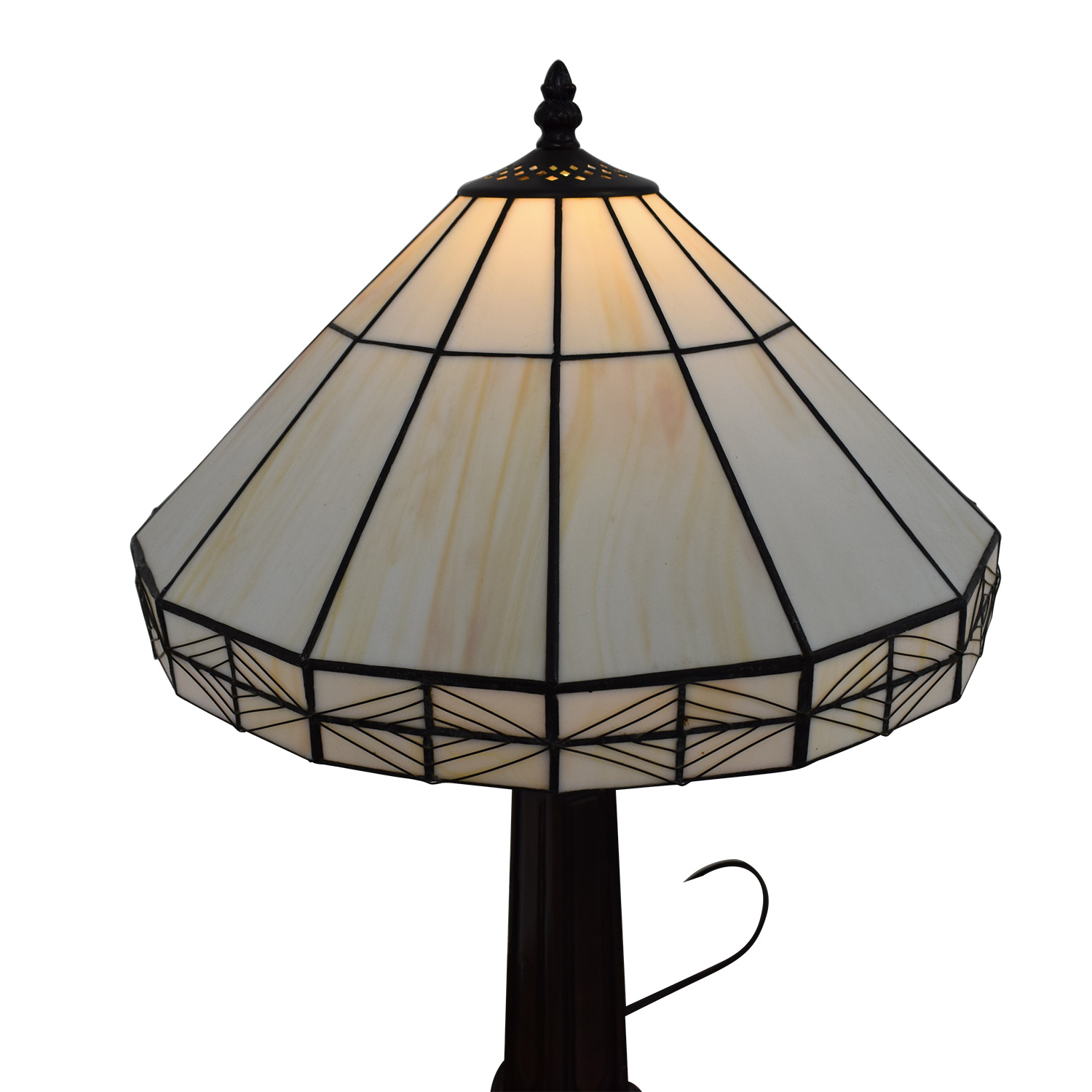 White Tiffany Inspired Table Lamp discount