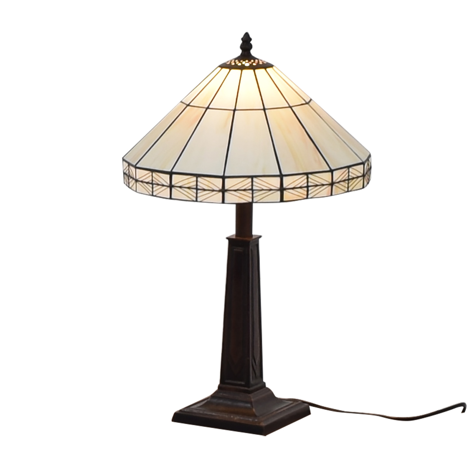 buy White Tiffany Inspired Table Lamp  Lamps