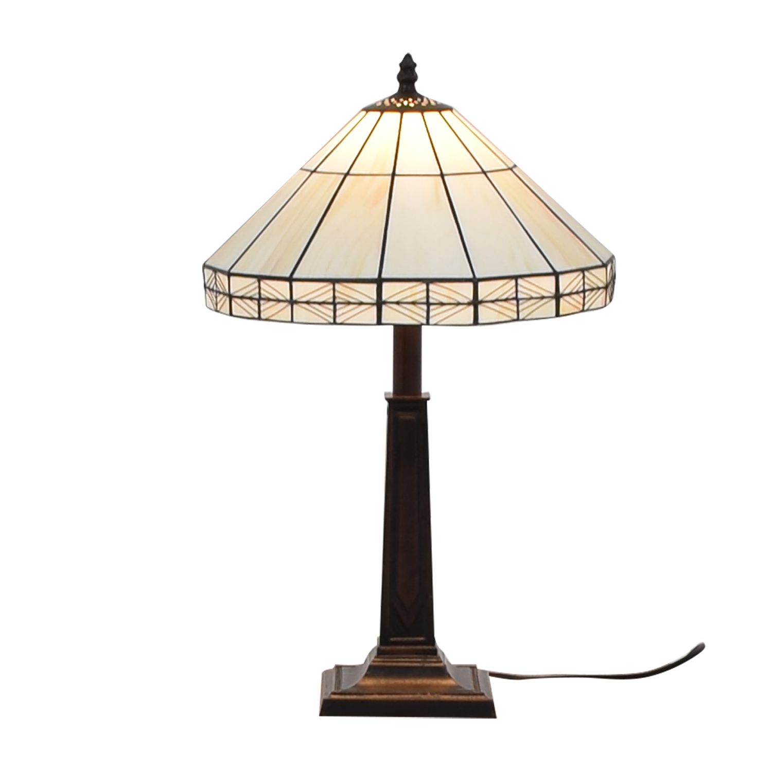 shop White Tiffany Inspired Table Lamp  Decor