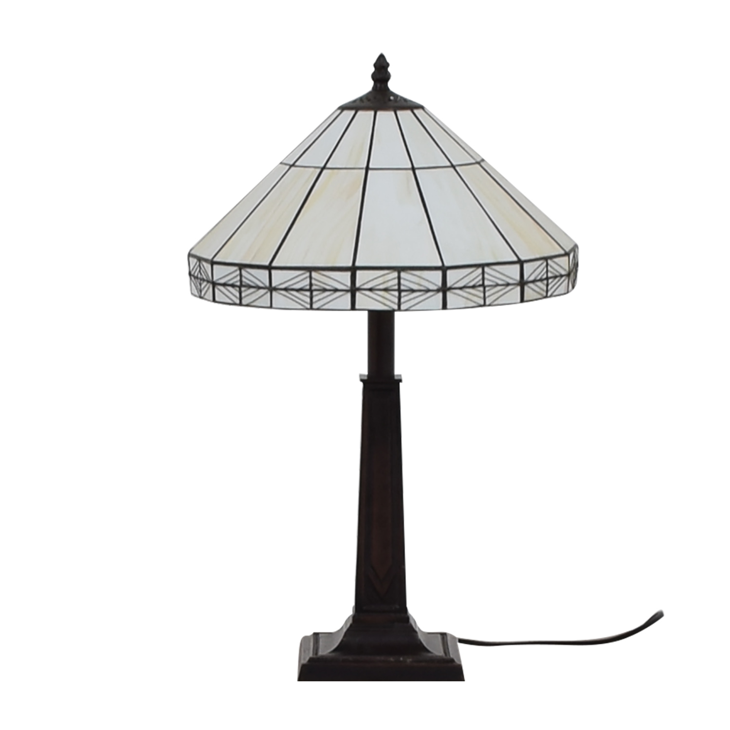 buy White Tiffany Inspired Table Lamp