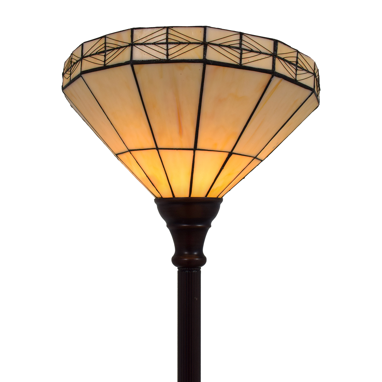 White Tiffany Inspired Floor Lamp second hand