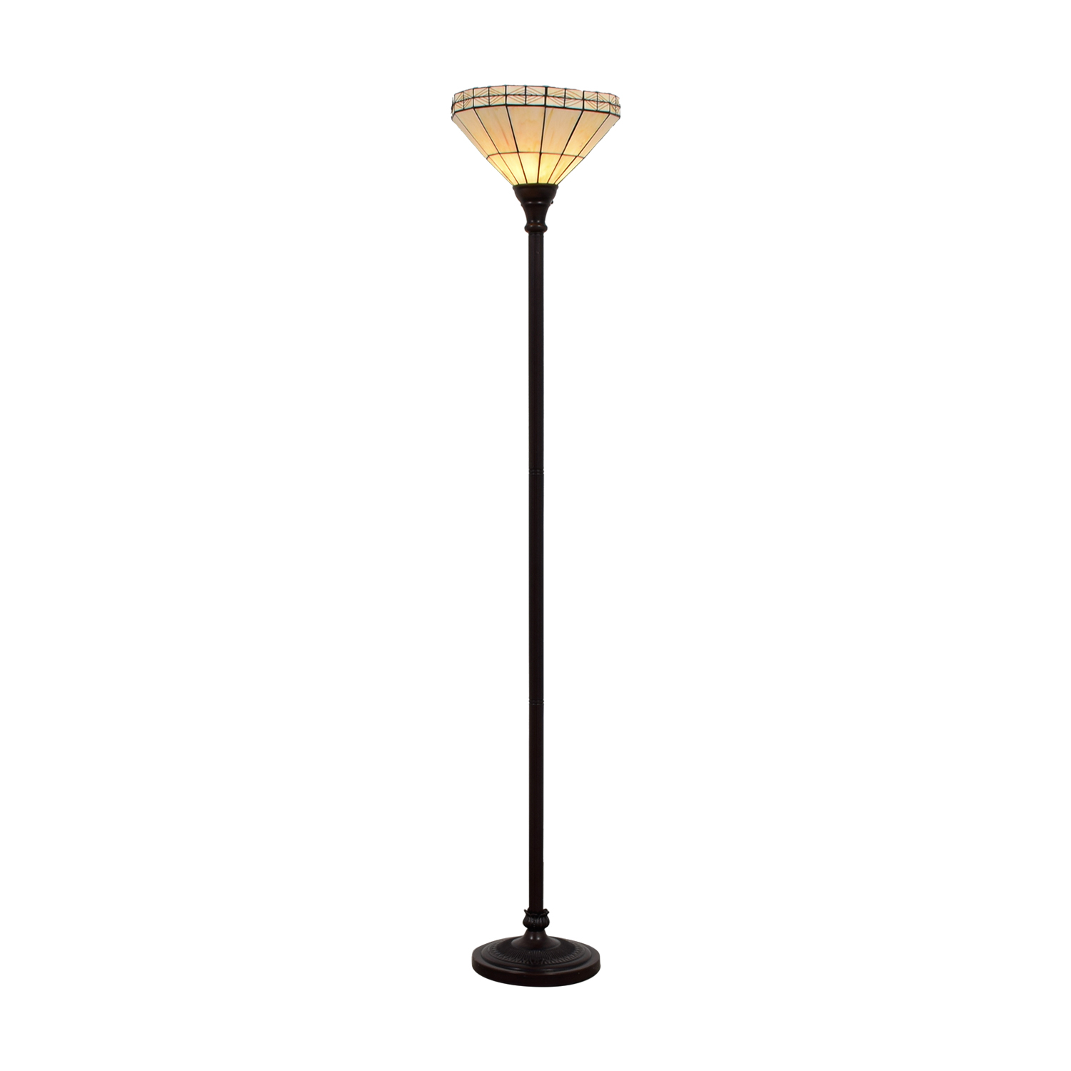 White Tiffany Inspired Floor Lamp dimensions