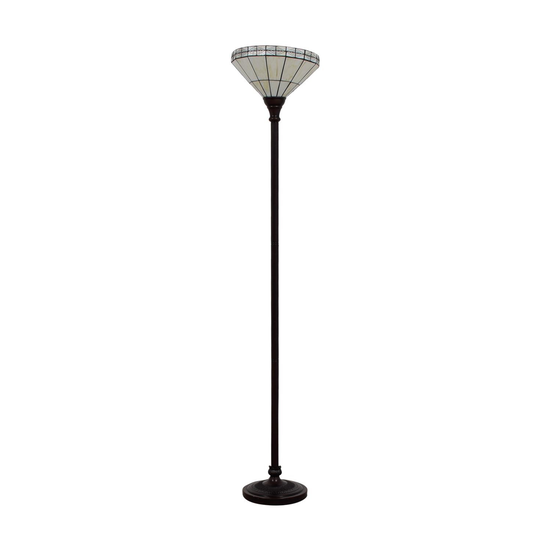 White Tiffany Inspired Floor Lamp / Decor