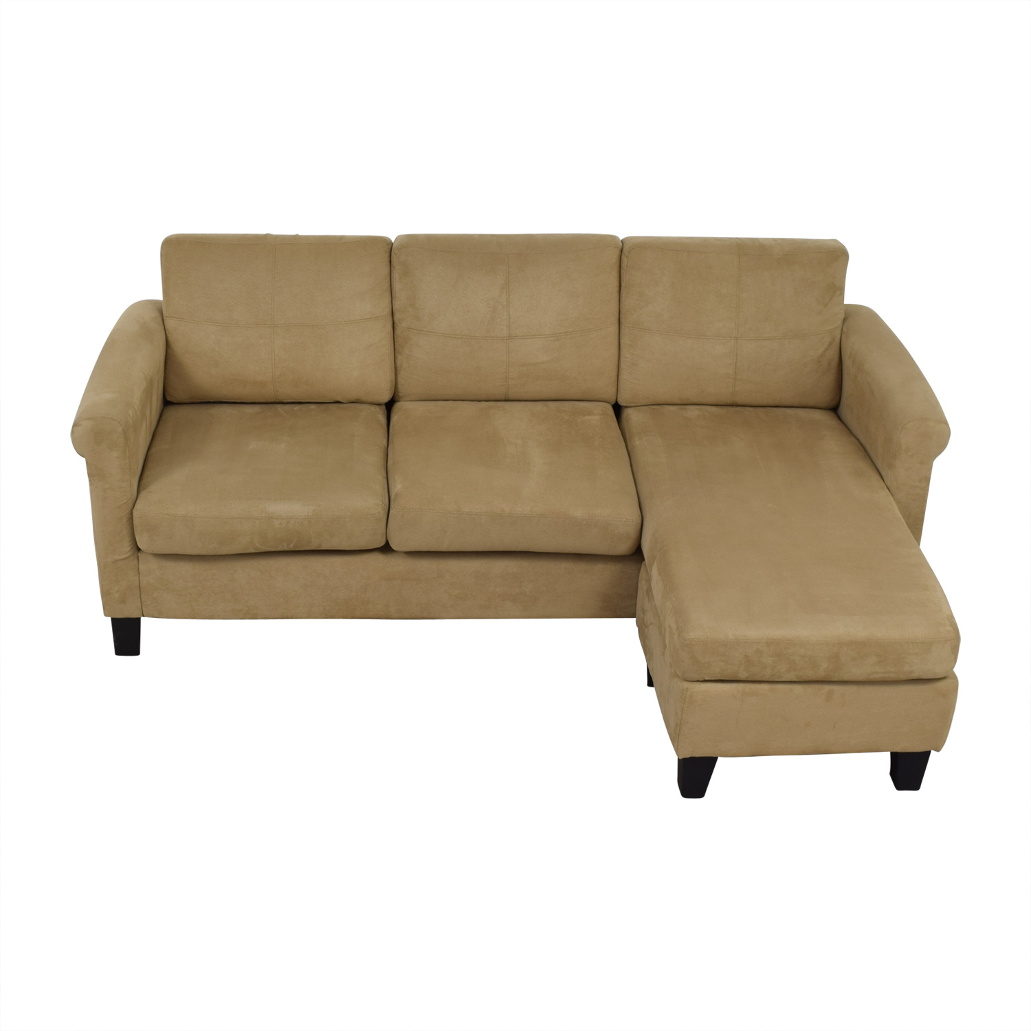 Dorel Living Beige Chaise Sectional / Sectionals