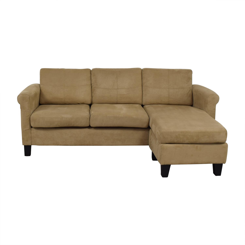 buy Dorel Living Dorel Living Beige Chaise Sectional online