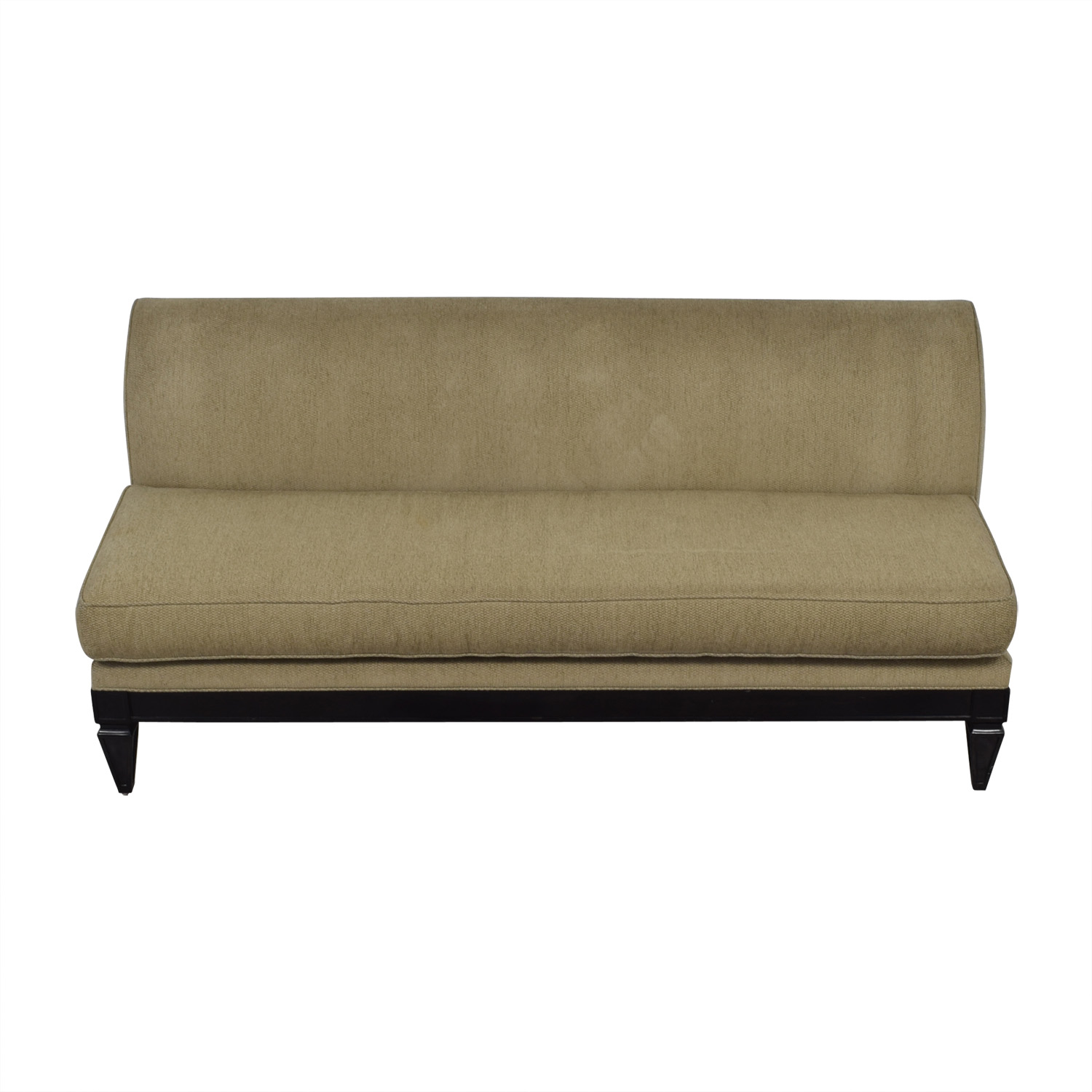 shop Todd Hase Tan Single Cushion Couch Todd Hase Sofas
