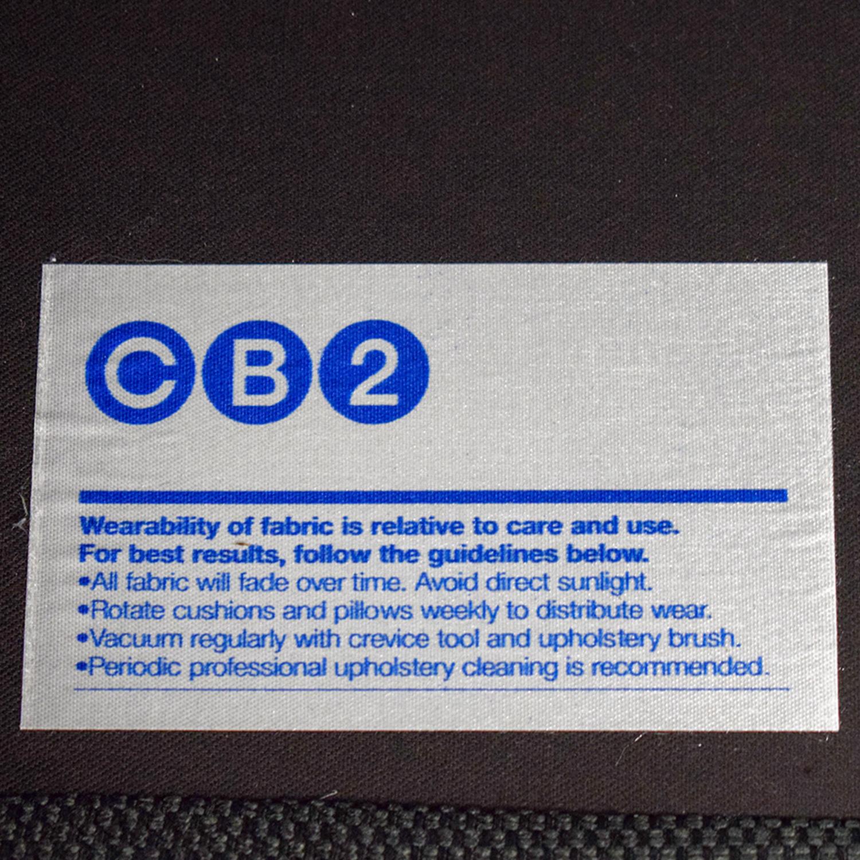 CB2 CB2 Parlour Grey Two-Cushion Sofa second hand