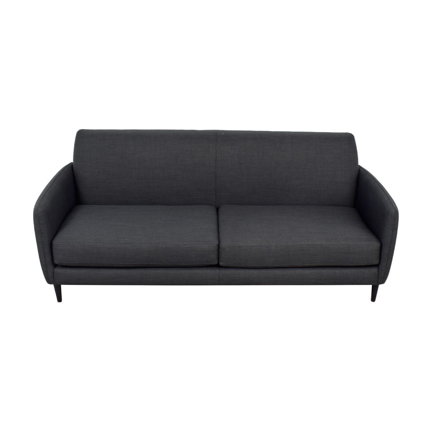 buy CB2 Parlour Grey Two-Cushion Sofa CB2 Sofas