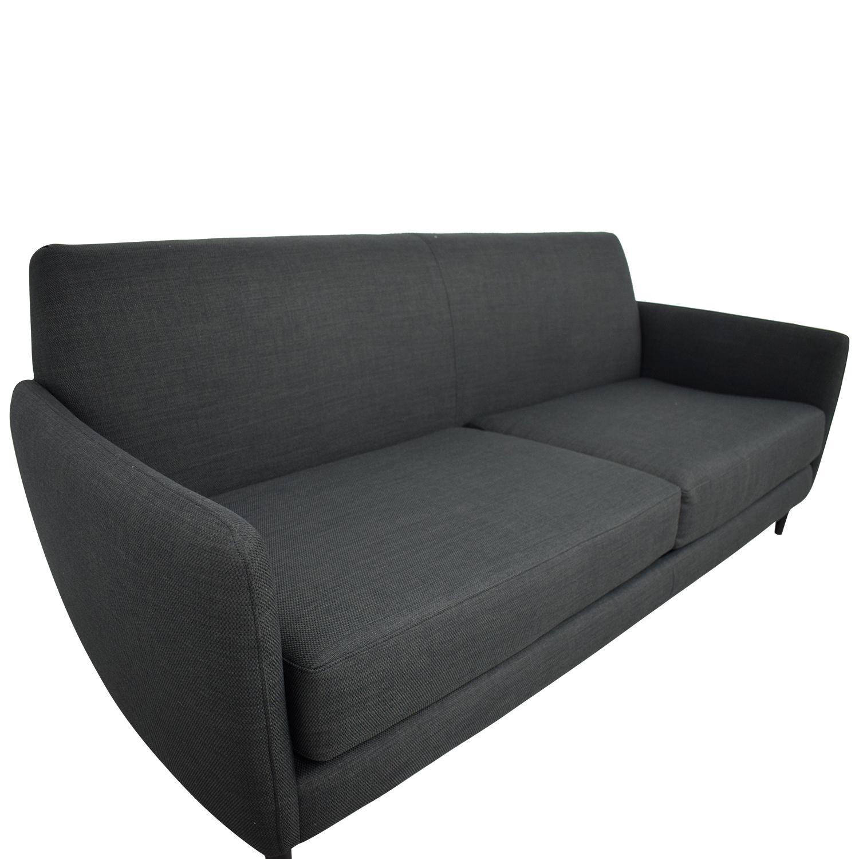 shop CB2 CB2 Parlour Grey Two-Cushion Sofa online