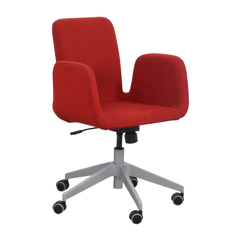 ikea furniture office. Shop IKEA Patrik Rolling Desk Chair Chairs Ikea Furniture Office N