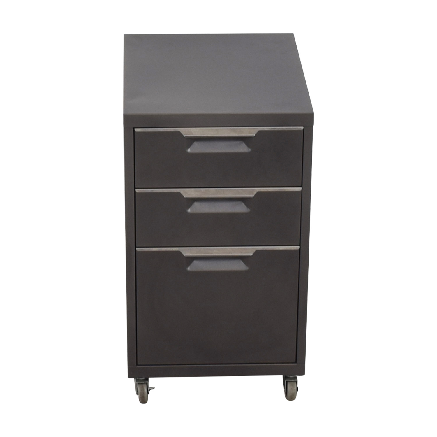 CB2 TPS Carbon 3-Drawer Filing Cabinet sale