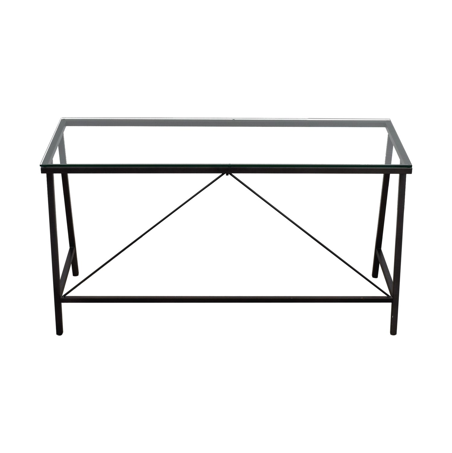 CB2 CB2 Carbon and Glass Desk discount