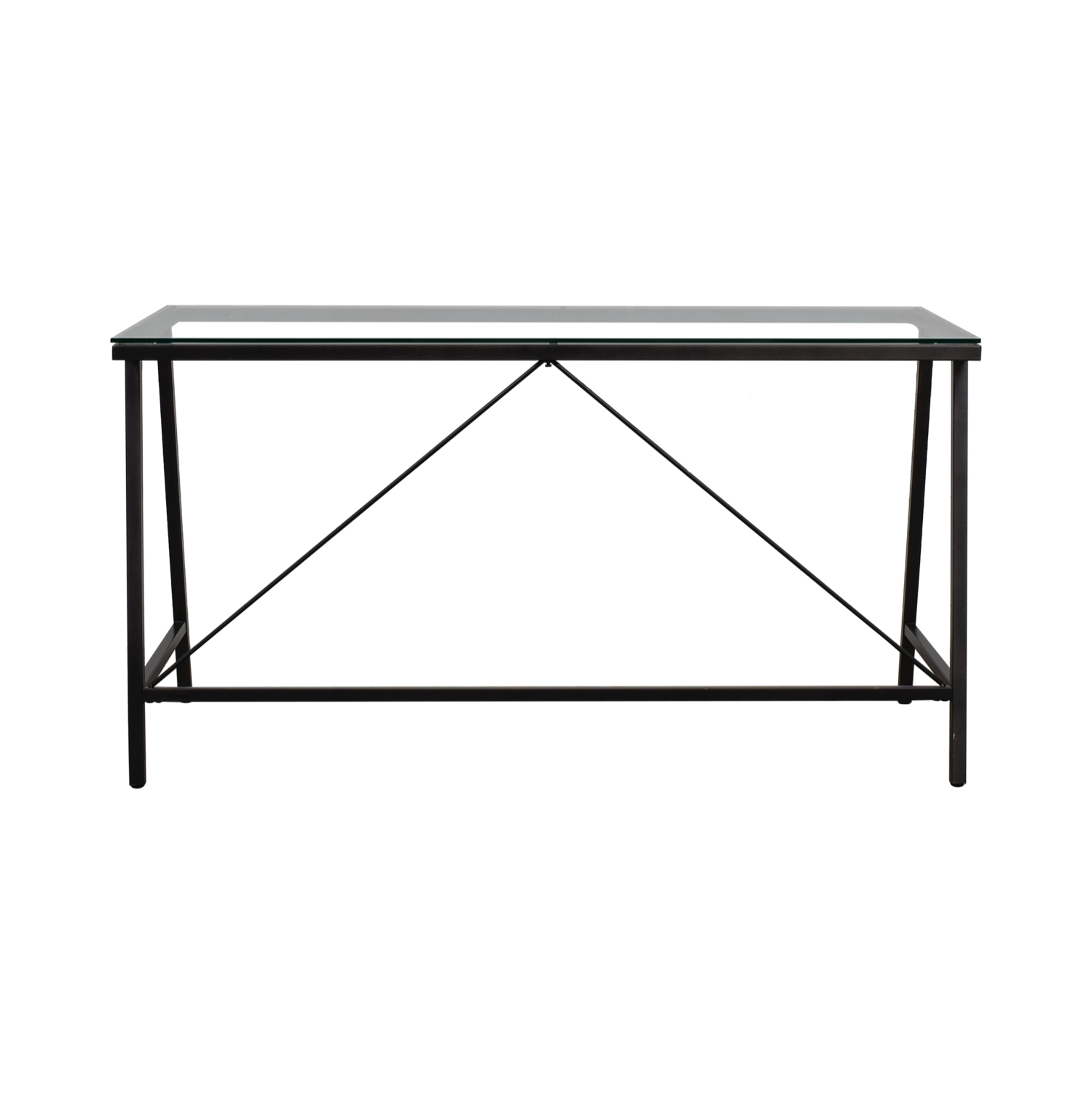 CB2 CB2 Carbon and Glass Desk Coffee Tables
