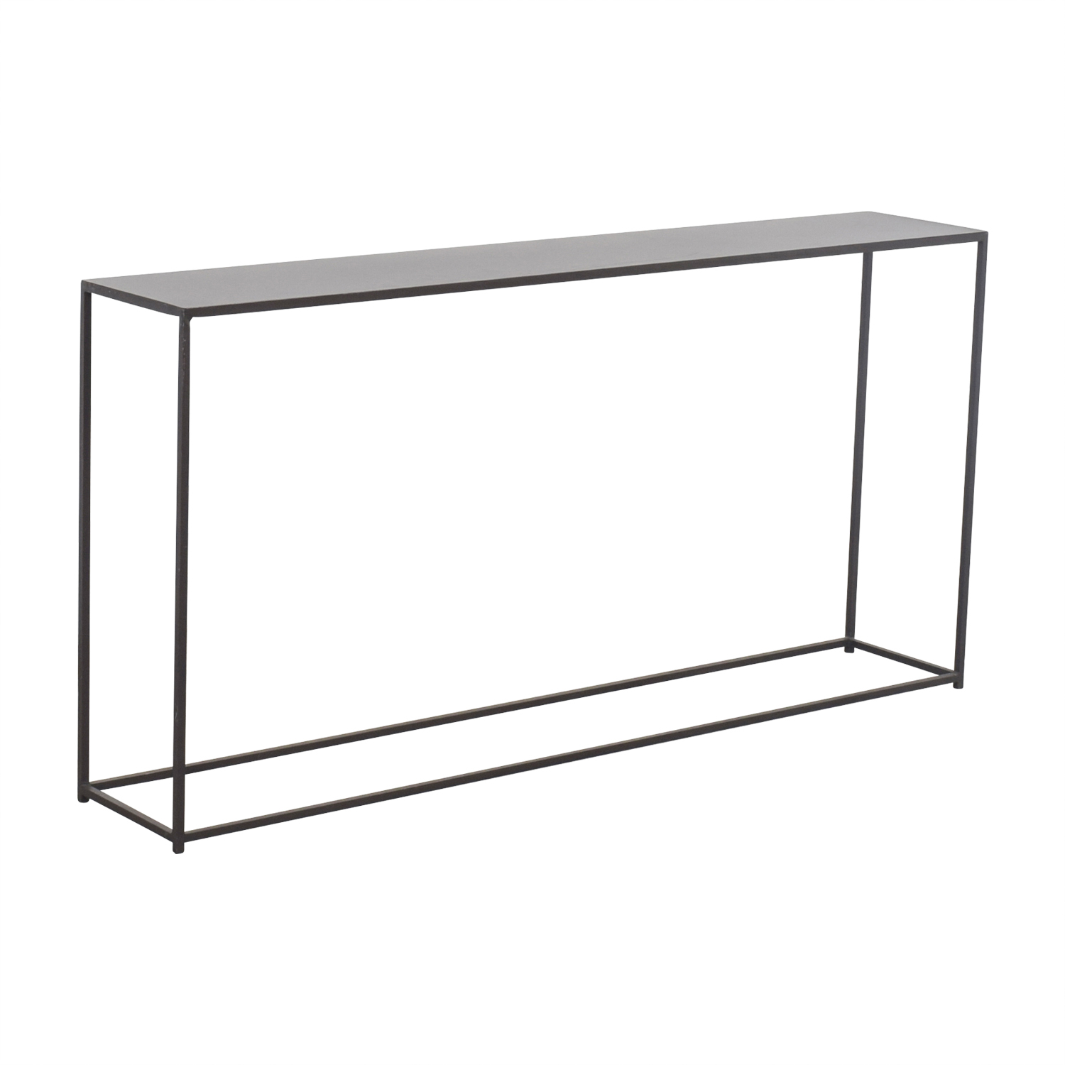 79 Off Cb2 Cb2 Mill Narrow Console Table Tables