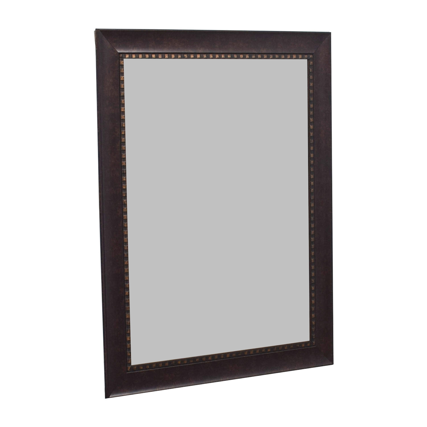 Brown with Gold Accent Mirror