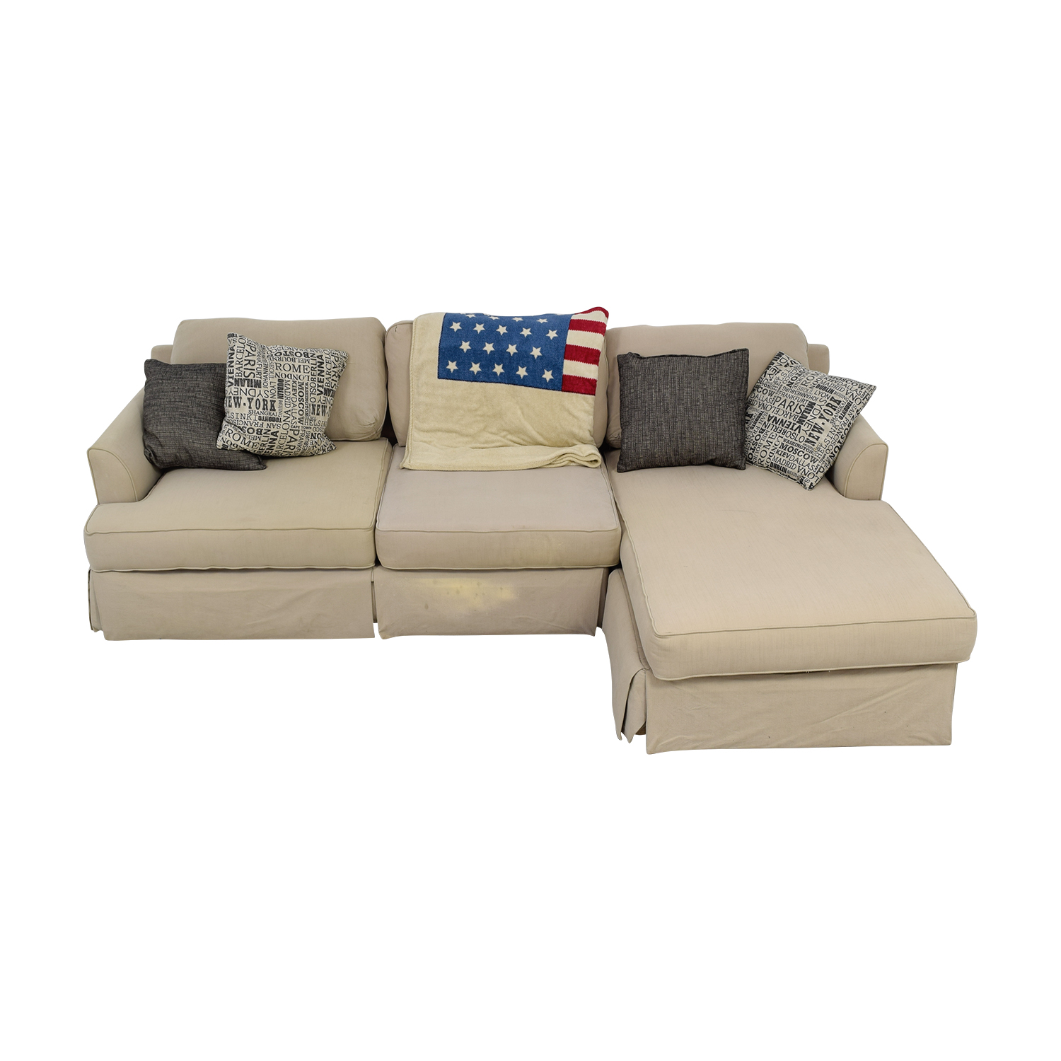 Kevin Charles Kevin Charles Beige Chaise Sectional on sale
