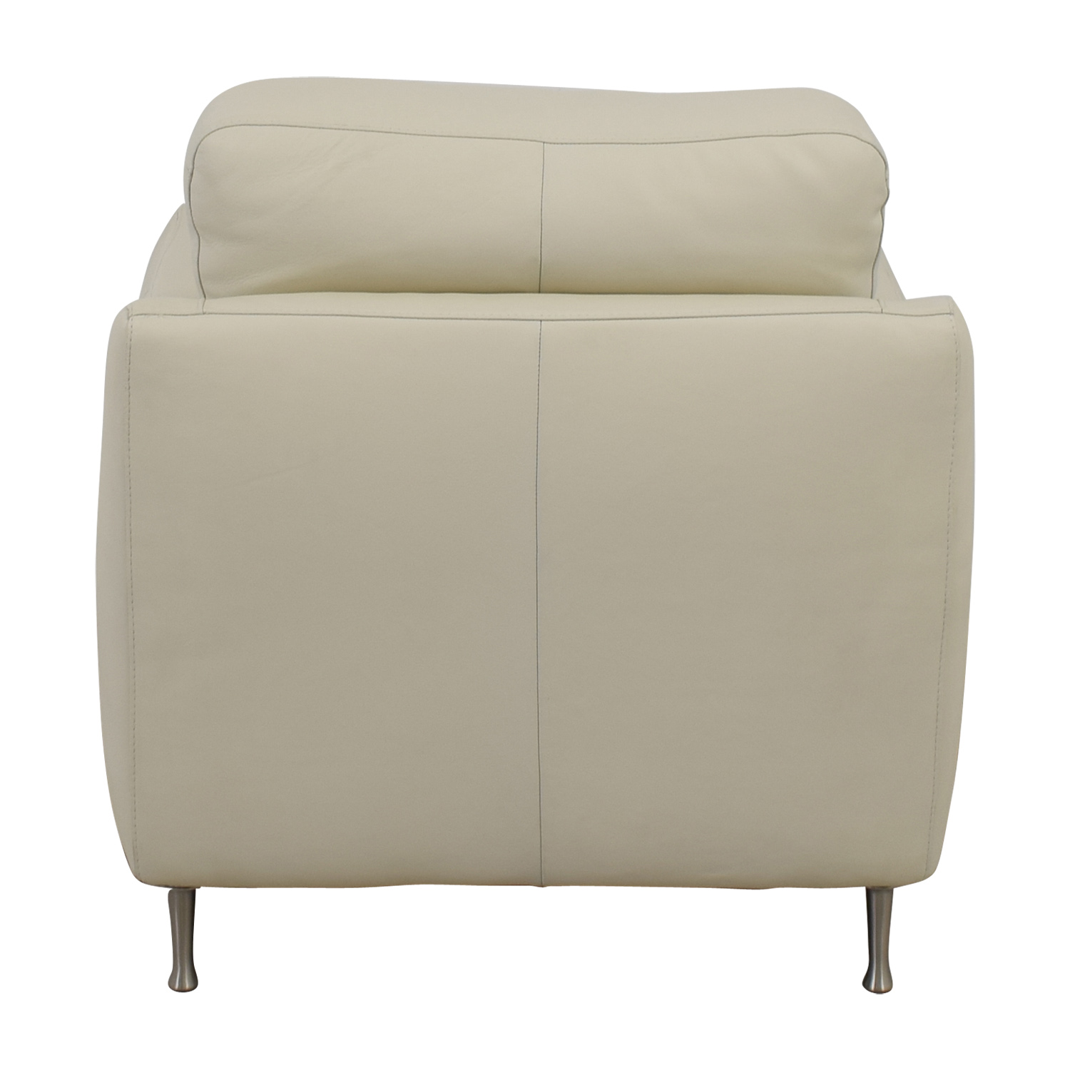 buy Natuzzi White Leather Chair & Ottoman Natuzzi