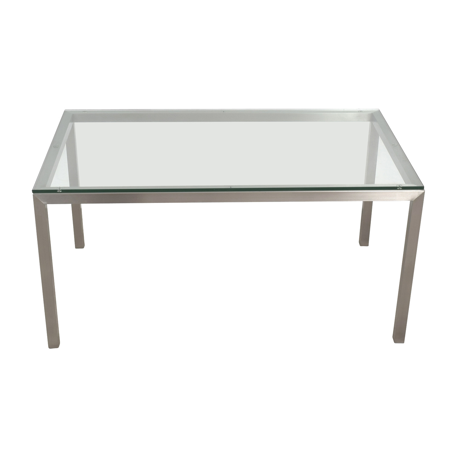 Crate & Barrel Crate & Barrel Parsons Stainless Steel Table second hand