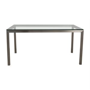 Crate & Barrel Crate & Barrel Parsons Stainless Steel Table used