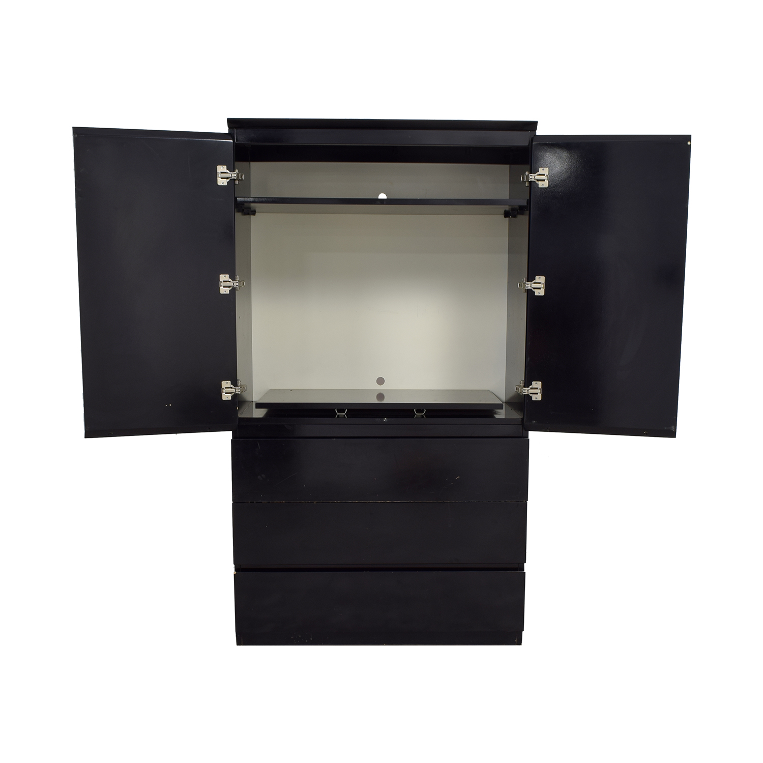 shop Black Lacquer Wardrobe or TV Console  Wardrobes & Armoires