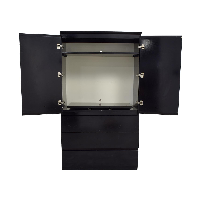 shop Black Lacquer Wardrobe or TV Console  Wardrobes & Armoires
