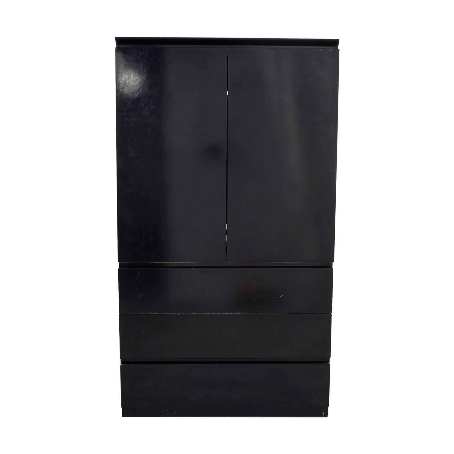 Black Lacquer Wardrobe or TV Console used