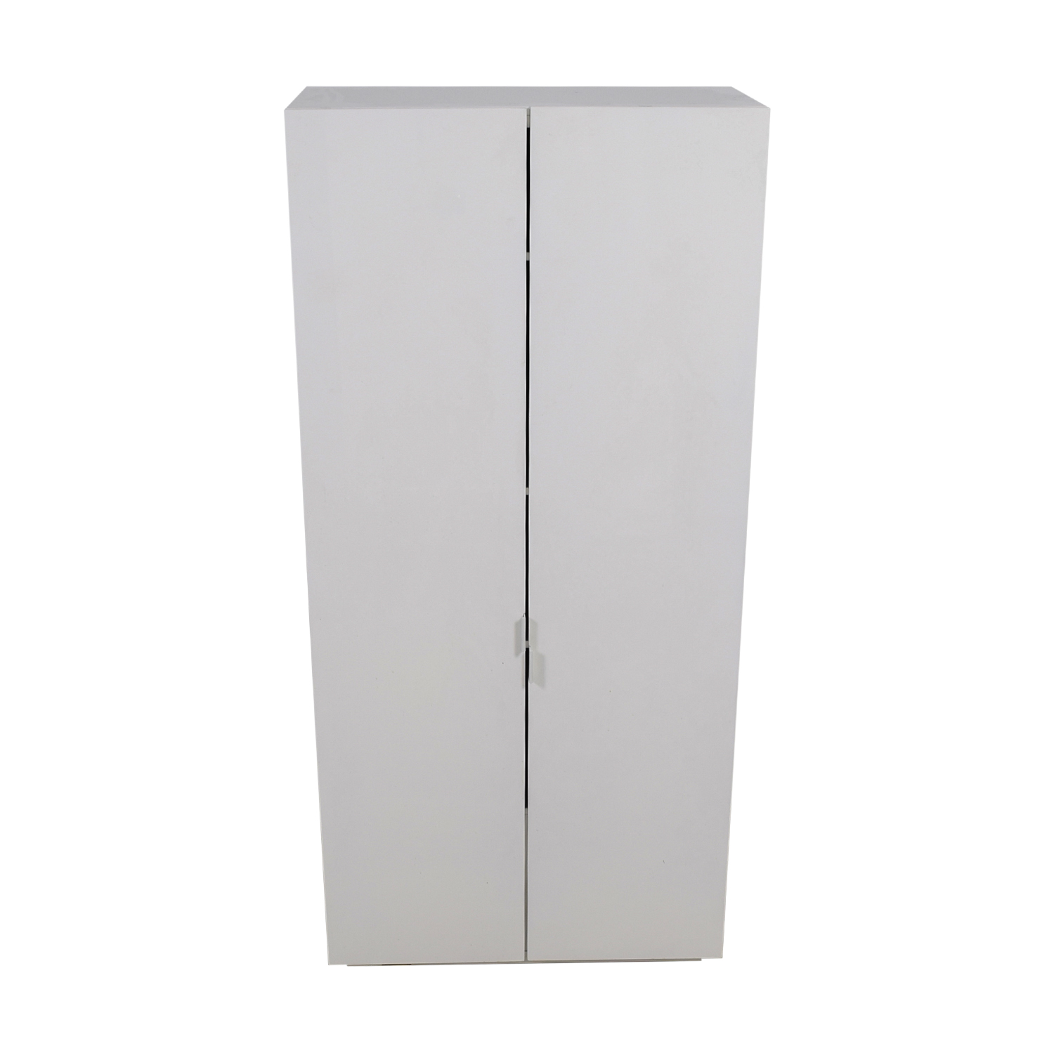 buy CB2 White Lacquer Wall Wardrobe with Shelves CB2