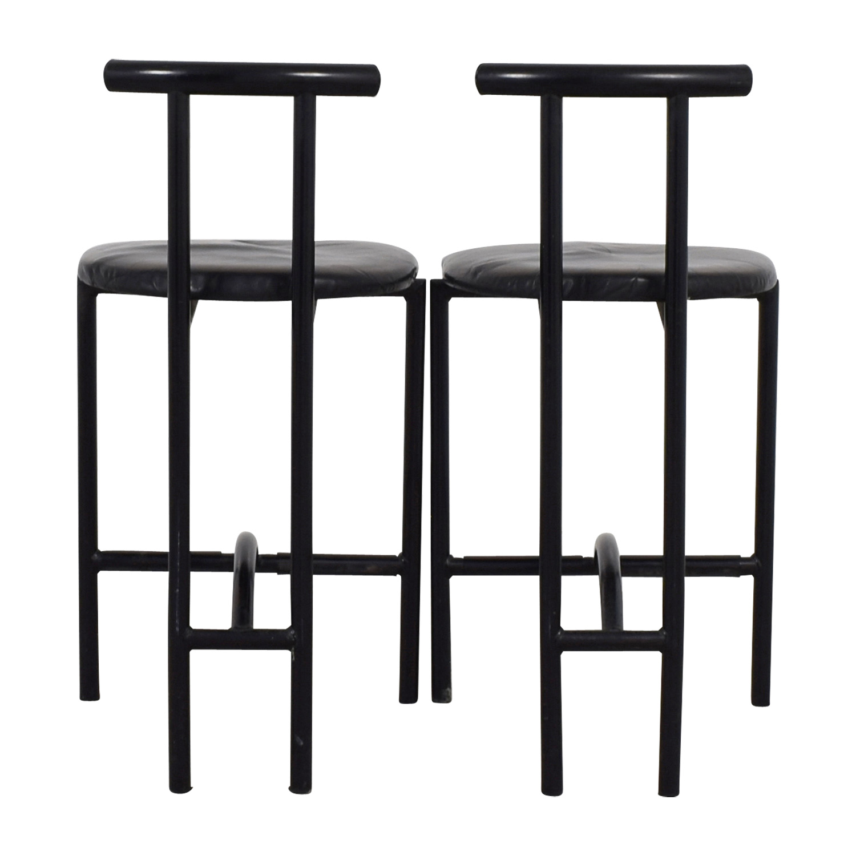 Art Deco Black Barstools Stools