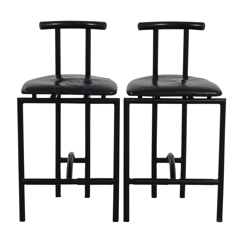 Art Deco Black Barstools second hand