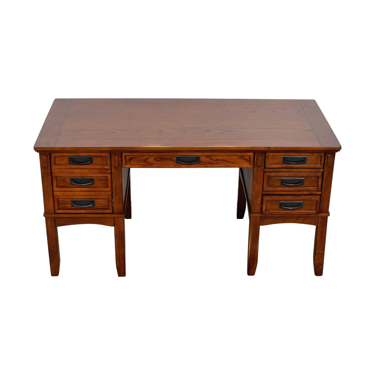 Belfort Furniture Belfort Furniture Light Cherry Five-Drawer Wood Desk on sale