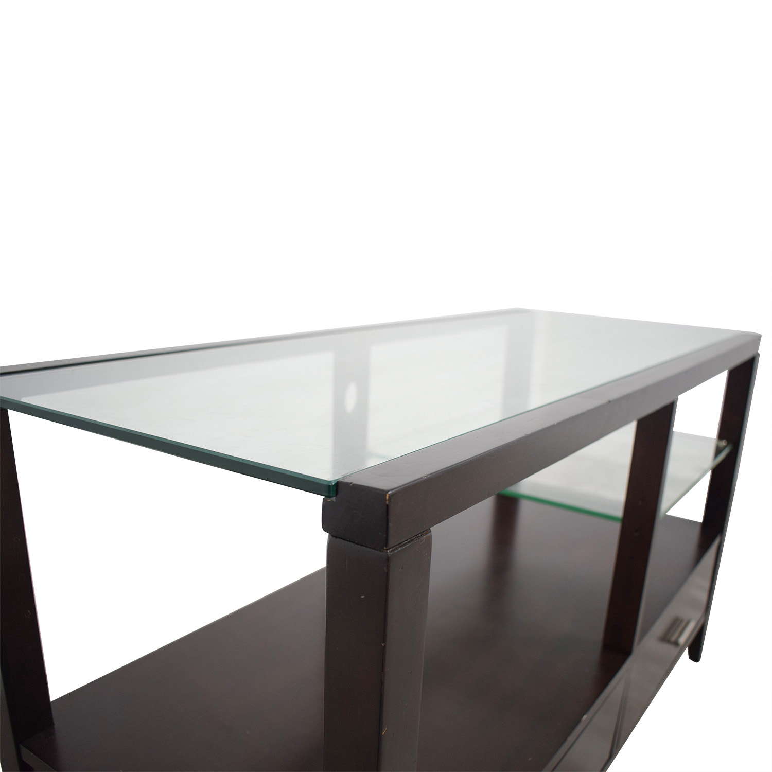 Belfort Furniture  Wood and Glass Entertainment Console / Media Units