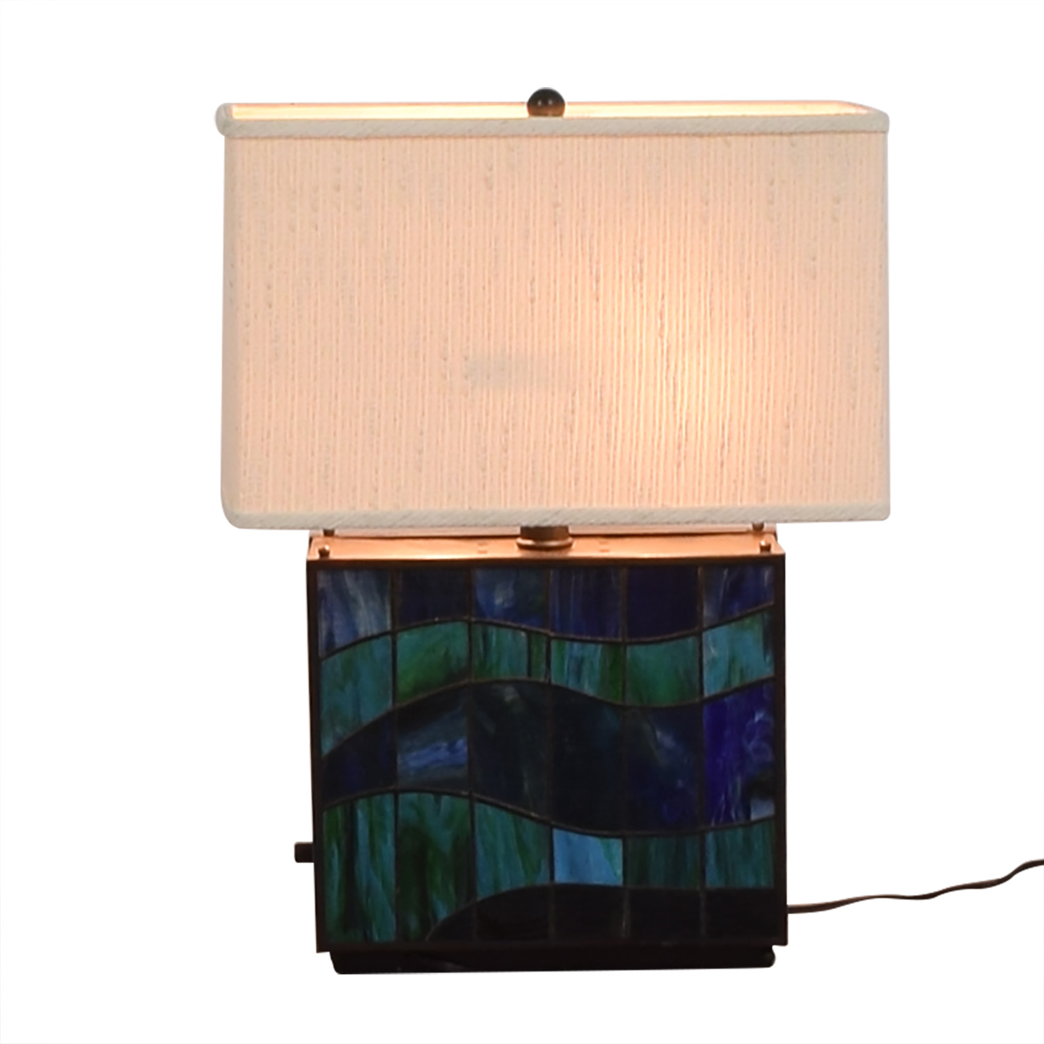 Quoizel Quoizel Blue Stained Glass Lamp price