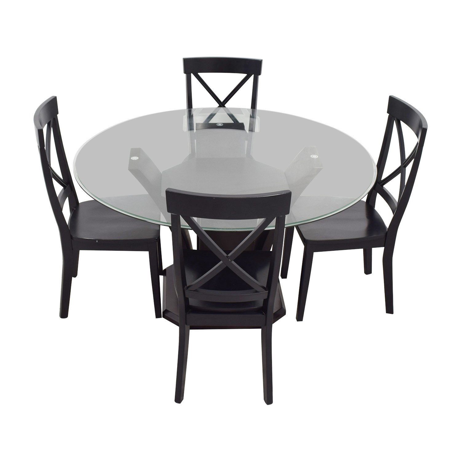 shop Raymour & Flanigan Glass Dining Set Raymour & Flanigan Dining Sets