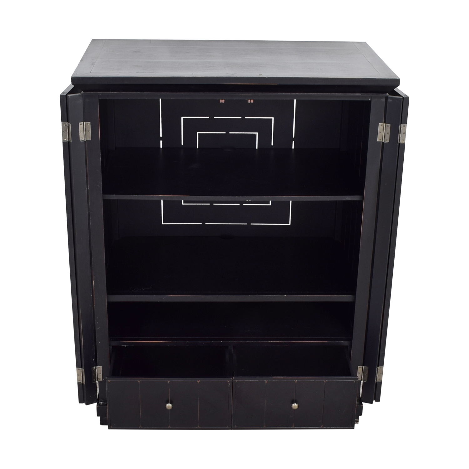 Pottery Barn Pottery Barn Two-Drawer with Shelves Armoire nyc