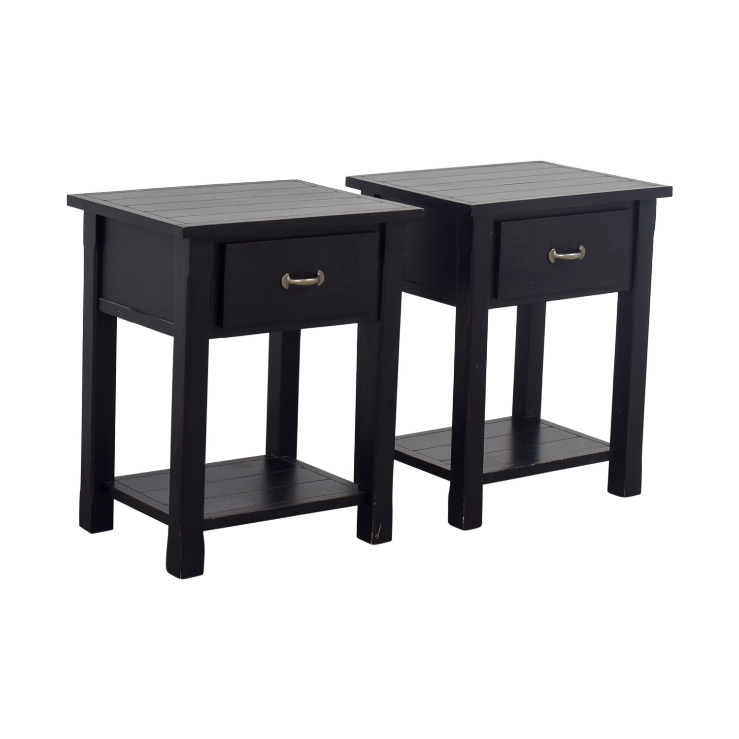 Pottery Barn Pottery Barn Black Single Drawer Side Tables nyc