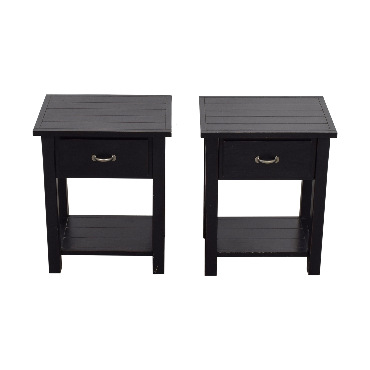 shop Pottery Barn Pottery Barn Black Single Drawer Side Tables online