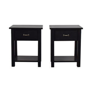 Pottery Barn Pottery Barn Black Single Drawer Side Tables
