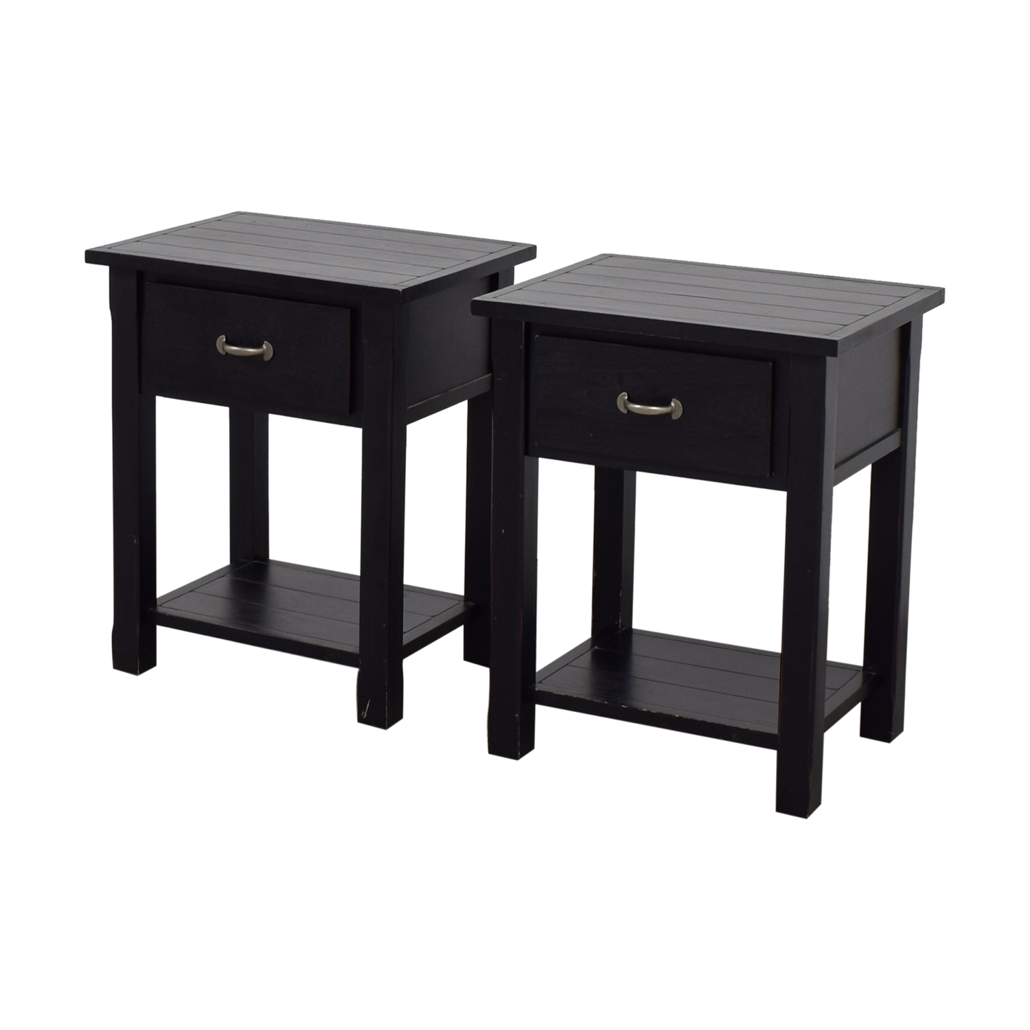 buy Pottery Barn Black Single Drawer Side Tables Pottery Barn End Tables