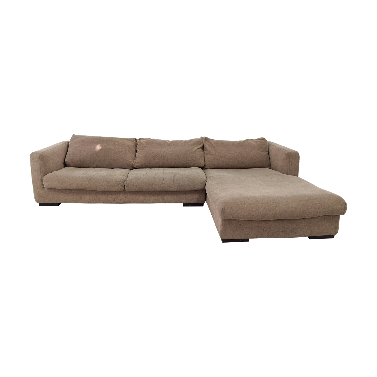 buy Plummers Furniture Tan Down Feather Chaise Sectional Plummers Furniture