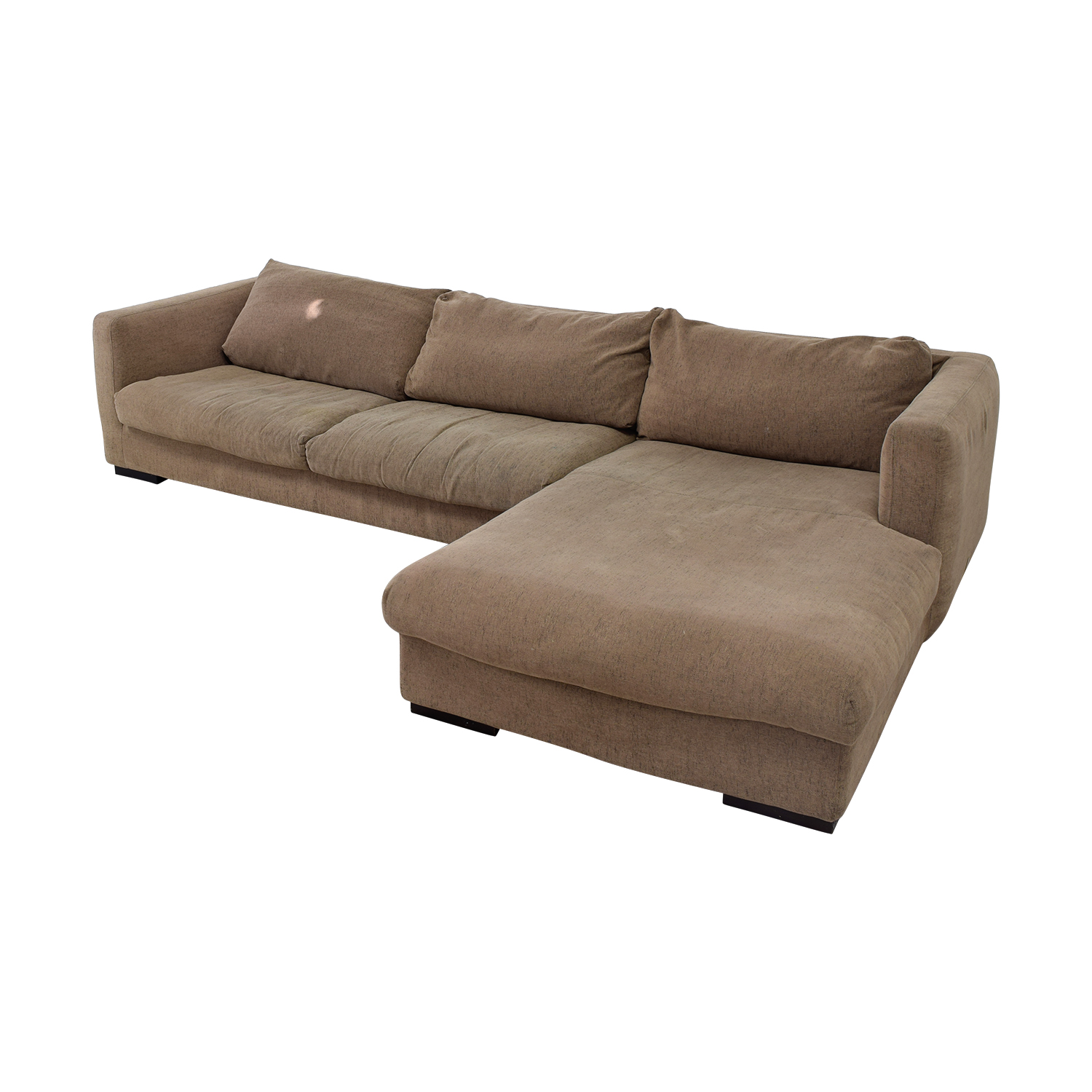 Plummers Furniture Plummers Furniture Tan Down Feather Chaise Sectional for sale