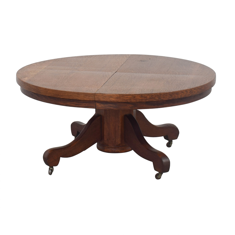 Round Coffee Table Oak
