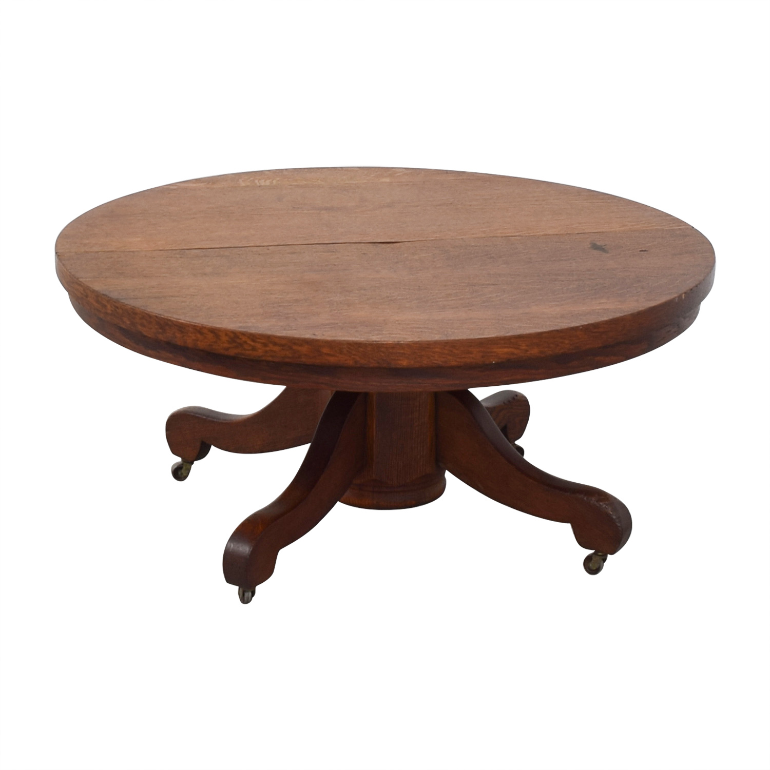 Beau ... Round Oak Coffee Table Brown ...