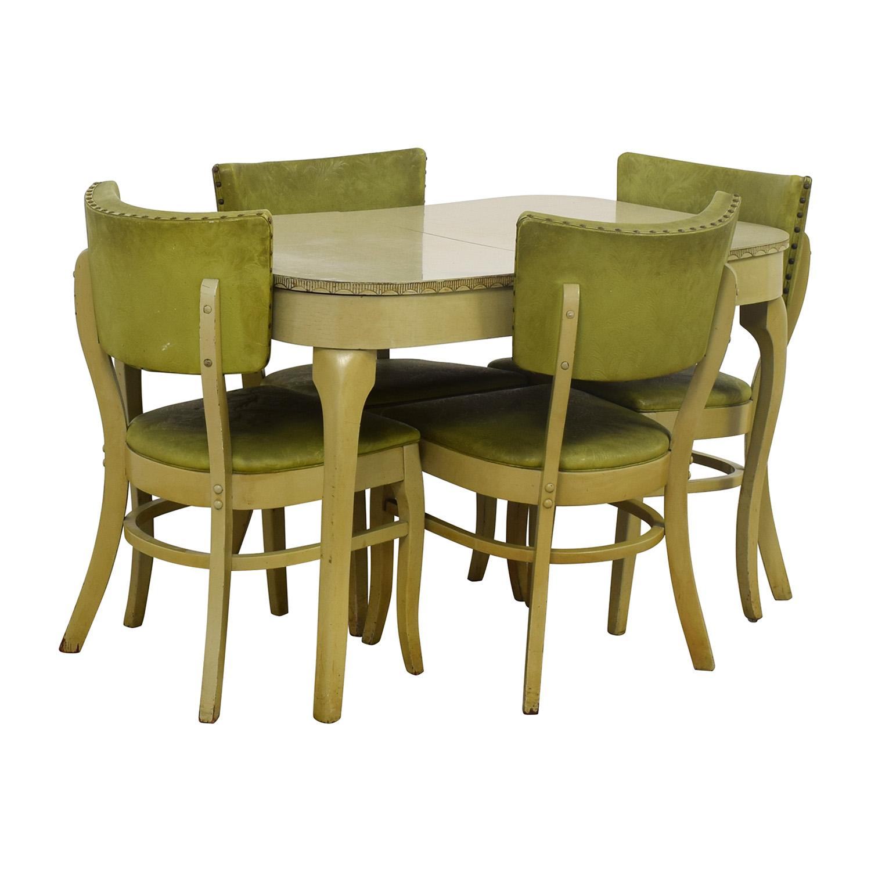 Green Formica Kitchen Dining Set for sale