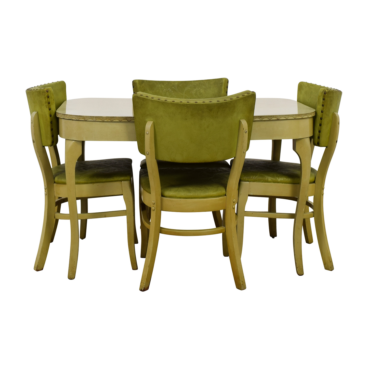Green Formica Kitchen Dining Set