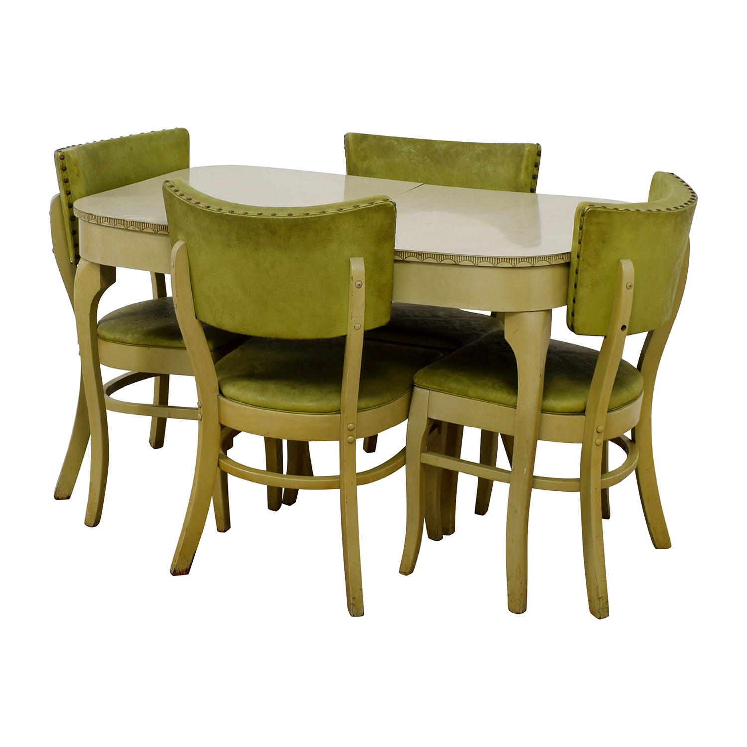 Green Formica Kitchen Dining Set used