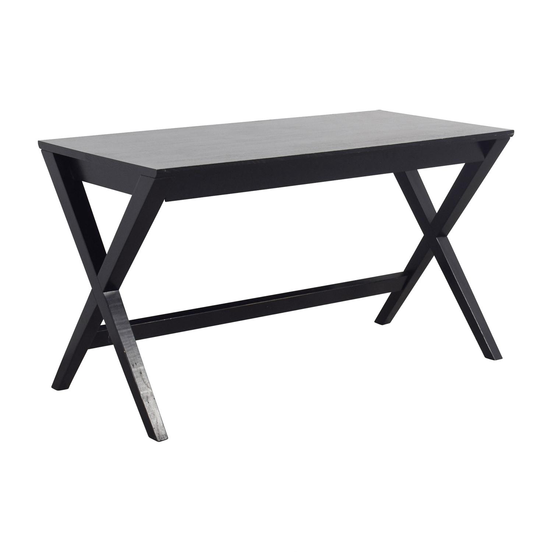 Crate & Barrel Crate & Barrel Black Single-Drawer Desk for sale