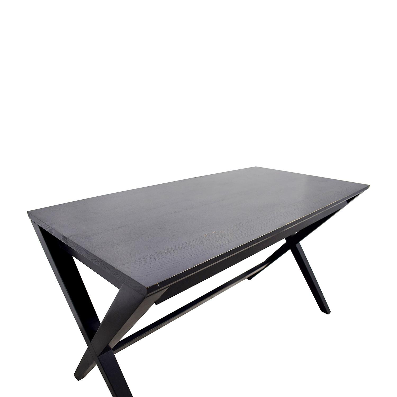 shop Crate & Barrel Crate & Barrel Black Single-Drawer Desk online