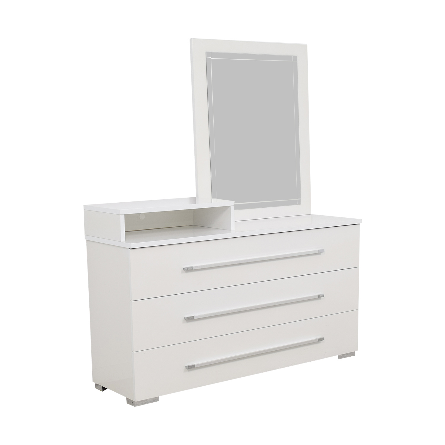 Value City Furniture Value City Furniture White Dresser with Deck and Mirror on sale